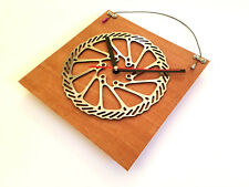 Bicycle Bike Rotor Clock Cycling Art Bike Chain Plates & Cable Cycling (Purple)