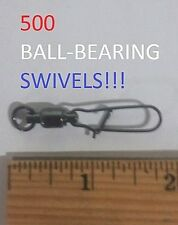 500 Eagle Claw Sz.5 Blk. Ball Bearing Swivels w/Duolock Snaps(B0-BSD-B5)EB040304