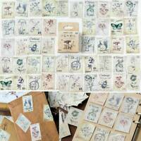46Pcs/box Stamp Paper Stickers DIY Diary Scrapbooking Seal Stickers Stationery