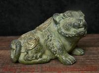 """4.2 """"Chine Antique Bronze Doré Fengshui 12 Zodiaque Année Animal Tigre Statue"""