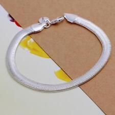 Fashion 925 Sterling Silver Plated Bracelet Jewelry 5MM CHAIN Snake bracelet