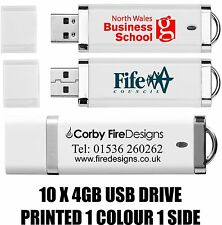 Personalised Printed USB 2.0  Flash Drive 4GB Memory Stick x10 _ FAST DELIVERY