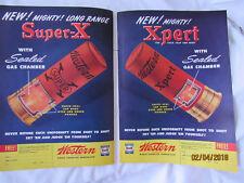 1948 VTG Orig Magazine Ad Hunting 2pg Super X WESTERN Xpert Gun Shells