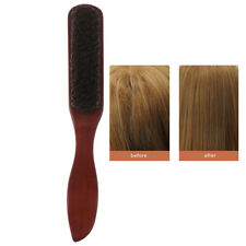 Hair Brush Wood Handle Boar Bristle Beard Comb Styling Detangling StraightenWKV