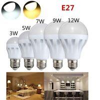 3W 5W 7W 9W 12W E27 LED Glühbirne Energiespar Leuchtmittel Lampe Weiß Warmweiß