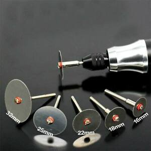 6Pcs/set Stainless Steel Slice Metal Cutting Disc with Mandrel for Dremel Rotary