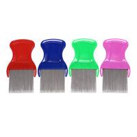 stainless steel combs for head lice dectection kids pet flea cootie comb TCJKUJK