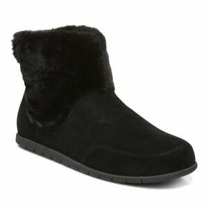 Vionic Maizie Women's Supportive Slipper Boot Black Suede - 9 Medium
