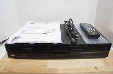‡ RARE REGION FREE! ‡ JVC DR-MV79B Dual Deck VHS DVD Recorder Combo HDMI Remote