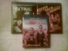 3 BLU-RAY LOT-IN TIME/NEVER BACK DOWN/22 JUMP STREET, SKU 4610