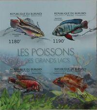 Fish of Great Lakes Marine Life fishes Burundi 2012 m/s Sc.1209 BUR12617a IMPERF