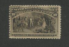 1893 US Stamp #237 10c Mint Fine Regummed Catalogue Value $240