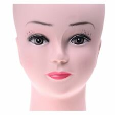 Cosmetology Bald Mannequin Head Female Model Wigs Hat Glasses Display Stand