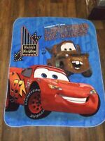Disney Pixar Cars Fleece Throw Blanket  48 x 60 Lighting MCQueen Vibrant Color