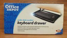 New listing Genuine Office Depot Under Desk Comfort Sliding Keyboard Drawer in Box *Read*