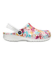 1bfde72846e426 New Women s Crocs Baya Graphic Clog Shoes 6 7 8 9 10 11 Fuchsia White