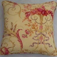 A 16 Inch Cushion Cover In Laura Ashley Malmaison Gold Fabric