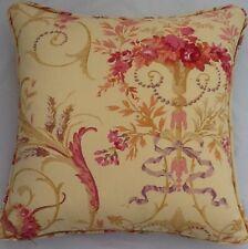 A 16 Inch Cushion Cover In Laura Ashley Malmaison Gold Fabric
