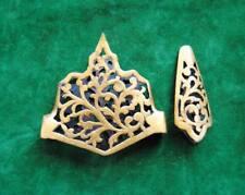 Vintage Islamic mughal katar gold tombak scabbard chape locket tiger knife