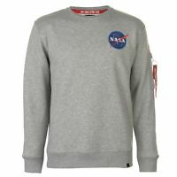 Mens Alpha Industries Space Shuttle Sweatshirt Crew Sweater Long Sleeve New