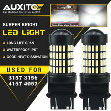 AUXITO 2X 3157 3156 Back up Reverse Light LED Tail Bulb White 102-SMD For Ford D