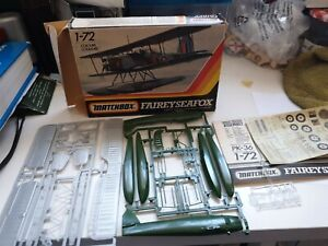 Matchbox 1/72 Fairey Seafox Kit Complete - Unbuilt -