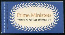 Australia 1972 $1.40 Prime Ministers Booklet Sg# Sb51 Nh