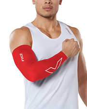 2Xu Compression Flex Arm Sleeve - Red/White - Medium