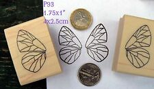 P93 small butterfly wings  rubber stamps wm