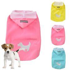 Dog Hooded Rain Coat Waterproof Pet Jacket Rainwear Reflective Puppy Clothes