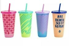 Tal Color Changing Tumblers Straw Set 24oz 4 Pack Cold Cups & Lids New