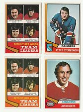 DETROIT RED WINGS TEAM LEADERS 74-75 O-PEE-CHEE 1974-75 NO 84 EXMINT  8821
