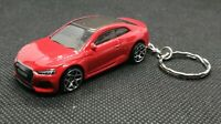 Hot wheels audi rs 5  coupe keyring diecast car