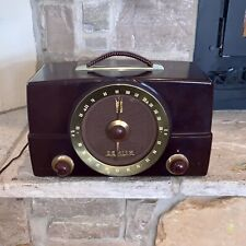 Rare 1950's Antique Zenith K-725 AM/FM Bakelite Tube Radio Vintage USA Made