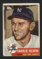 1953 Topps #242 Charlie Silvera VG/VGEX Yankees 88136