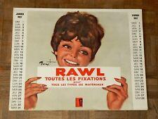 Calendrier RAWL PIN UP  BRENOT Calendar Affiche Poster Portrait Femme 1967