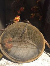 "Primitive Shoo Fly Mesh  Make Do Homestead Early Look  6"" Rusty Grubby"
