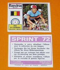 PANINI SPRINT 72 CYCLISME 1972 N°8 ERIC DE VLAEMINCK BELGIË WIELRIJDER CICLISMO