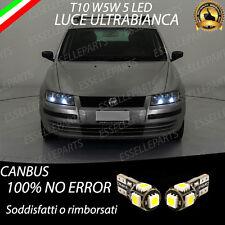 COPPIE LUCI POSIZIONE 5 LED CANBUS FIAT STILO T10 LUCE BIANCA NESSUN ERRORE