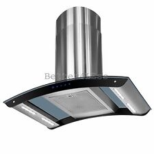 "36"" Beautiful Island Mount Stainless Steel Kitchen Range Hood Stove Vent Exhaust"