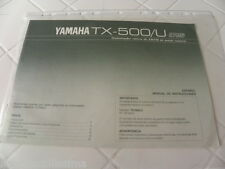 Yamaha TX-500/U Du propriétaire Manual Operating Instructions Neuf