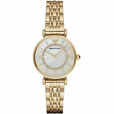 Emporio Armani AR1907 Ladies Gold Gianni T-bar Watch