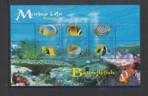 BIOT 2006 Marine Life Butterflyfish M/S MH per scan .. hinge remnants
