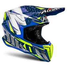 Casco Cross Enduro Airoh Twist Iron 2018 Blu Helmet L