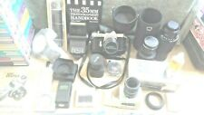 ASAHI PENTAX SPOTOMATIC SP II WITH LOTS OF ACCESORIES LENSES ETC