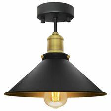 Modern Vintage Industrial Flush Mount Brass Black Scone Ceiling Light Shade M010