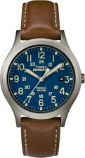 TW4B11100 Timex Expedition Mid-Size Scout Unisex Brown Brass Case Indiglo Watch