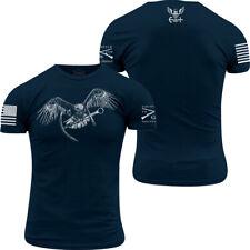 Grunt estilo USN-Flying Eagle Y Ancla T-Shirt-azul marino