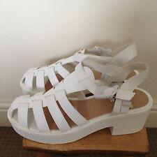 Ladies White STYLE SHOES Gladiator Sandals (Size 8) BNIB RRP £23