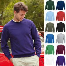 Sweatshirt Herren Fruit Of The Loom Classic Raglan Sweat Rundhals Sky Blue XL